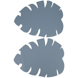 Buddy & Hope Silicone placemat leaf Blue 2-pack
