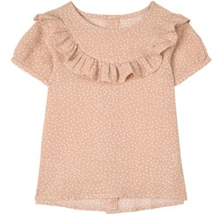 Buddy & Hope Polka Dots Blouse Dusty Rose