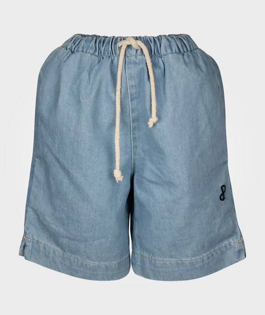 Popupshop Denim Shorts Light Denim Blue
