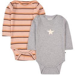 Molo 2-Pack Foss Baby Bodies Striped Melange