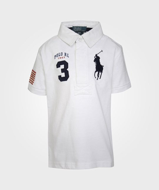 Ralph Lauren SS RUGBY POLO W/ BPP WHITE Hvid