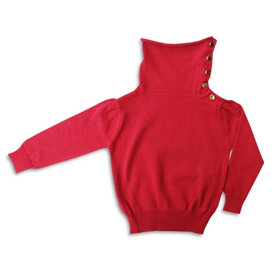 The BRAND Polo Knit Red Red