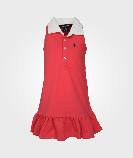 Ralph Lauren SL EYELET COLLAR RGBY DRESS WASHED RED Red