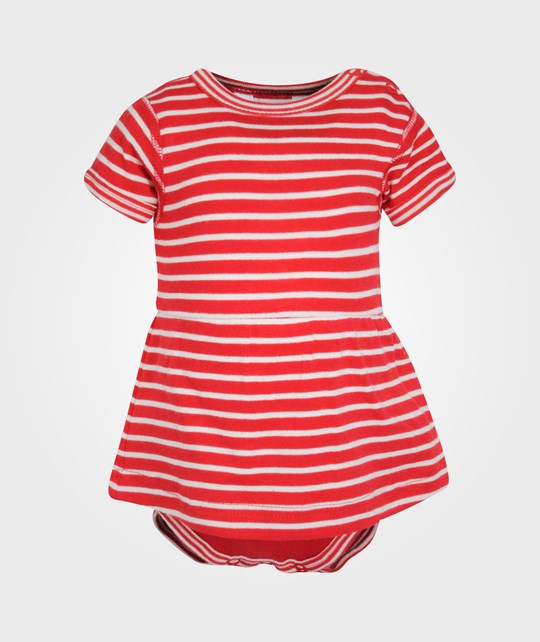 Joha Body w. Skirt Red Stripes Red