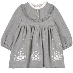 Mayoral Flannel Dress Gray