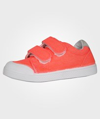 10-IS Ten Velcro Canvas Fluo Corail Pink