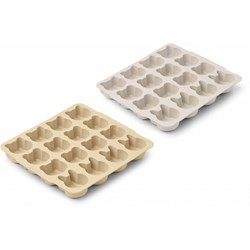 Liewood 2-Pack Sonny Ice Cube Trays Wheat Yellow/Sandy