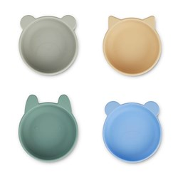 Liewood 4-Pack Iggy Silicone Bowls Peppermint