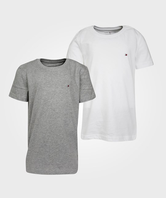 Tommy Hilfiger 2-Pack Cotton CN Tee SS Classic White White