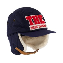 The Marc Jacobs Logo Trapper Hat Navy