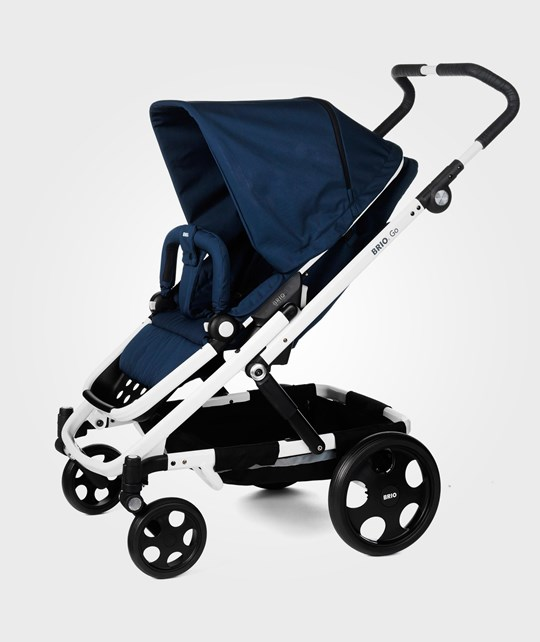 BRIO Go Stroller 2014 Navy With White Chassi Blue