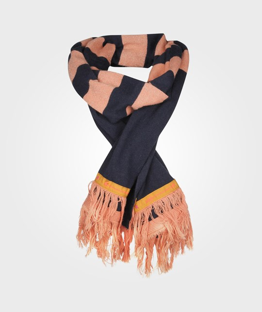 Scotch R'belle Striped Scarf Pink Navy Pink