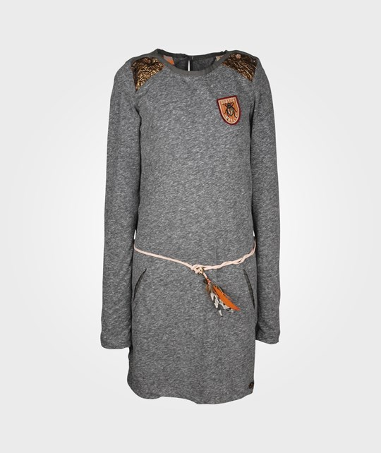 Scotch R'belle Dress W Feather Belt Grey Melange Black