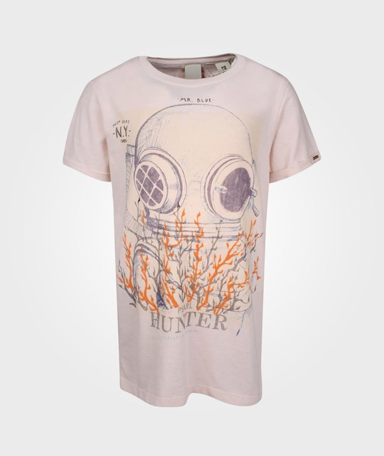 Scotch & Soda SS Tee With Roll Up Sleeve Peach Pink