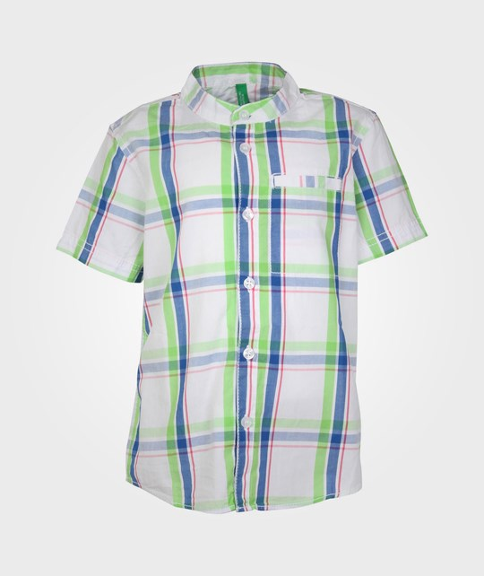 United Colors of Benetton Shirt Checked Blue/Green 20