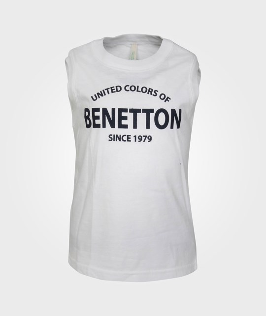 United Colors of Benetton Sleeveless Sweater White/Black 20