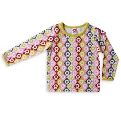 Katvig T-shirt LS Pink Lemon Harlequin Apple
