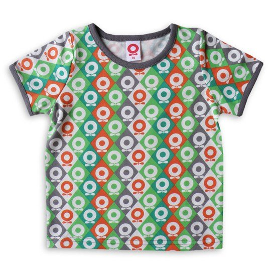 Katvig T-shirt Green Orange Harlequin Multi