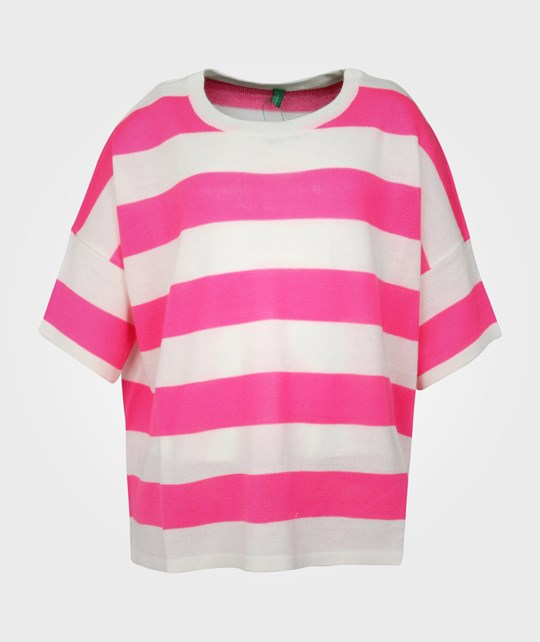 United Colors of Benetton Sweater Pink/White Stripe 20