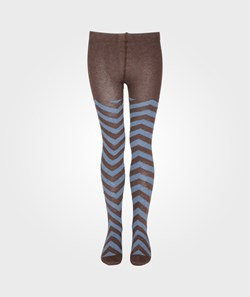 Bobo Choses Tights Chevron Pattern Blue Heaven