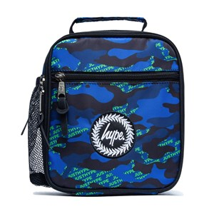 Hype Neon Logo Camo Madkasse Blå one size