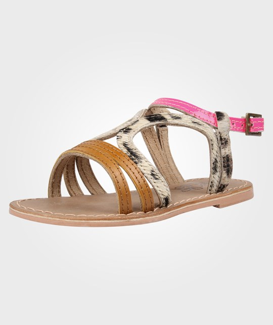 Little Pieces Little Alma Sandal Neon Peach Orange