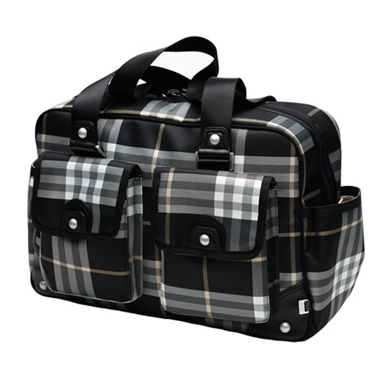 OiOi Carry All City Check Black & White Black