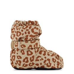 Kuling Yellowstone Baby Booties Brown Leopard