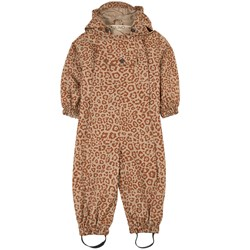 Kuling Milano Shell Coverall Brown Leopard