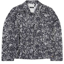IKKS Navy All Over Floral Print Blouse