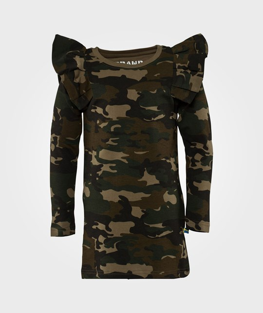 The BRAND Flounce Dress Camo Green