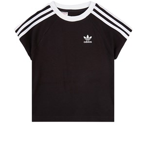 Image of adidas Originals Black and White 3 Stripes T-shirt 3-4 years (104 cm) (1894588)