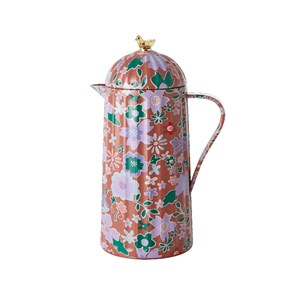 Image of Rice Bird [vacuum_jug_106762] Brown Fall Floral one size (2019082)
