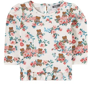 Image of Moschino Kid-Teen All Over Floral Bear Long Sleeve T-shirt Hvid 12-18 months (1993753)