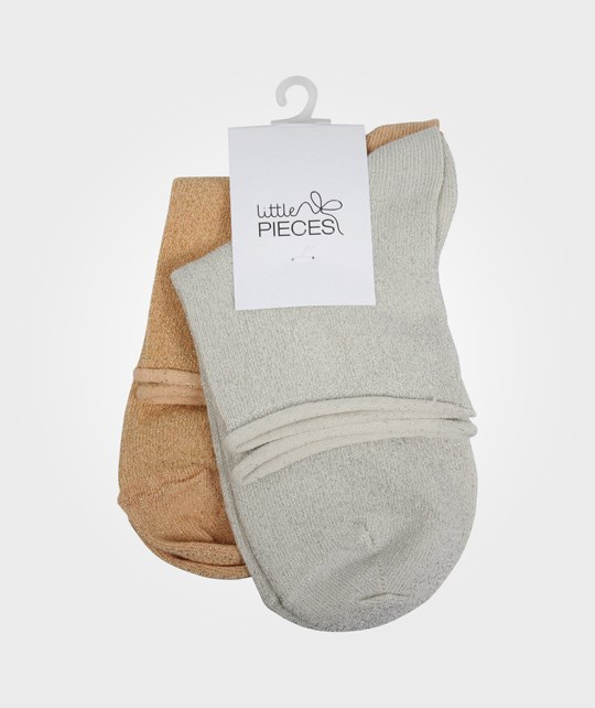 Little Pieces Little Roll Ancle Socks Creme White