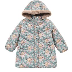Louise Misha Puffy Coat Faustina Blue French Flowers