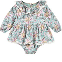 Louise Misha Rompers Ghilena Blue French Flowers