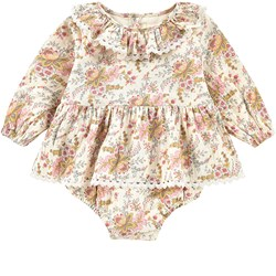 Louise Misha Rompers Ghilena Cream French Flowers