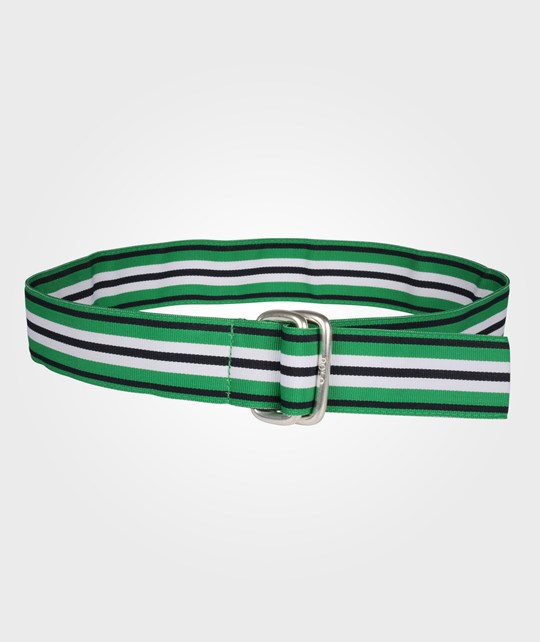 Ralph Lauren Ribbon Belt Green/Navy Multi