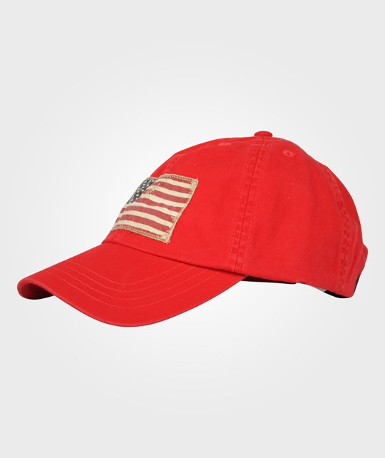 Ralph Lauren Baseball Cap USA Flag Red Multi