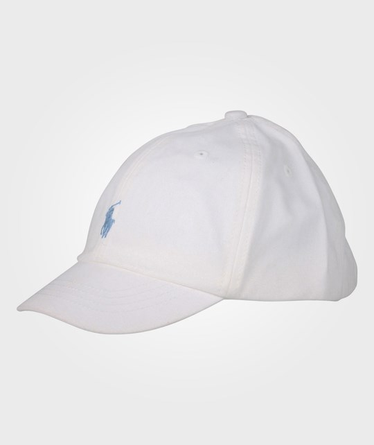 Ralph Lauren BB Cap With PP 5-6Y White Multi