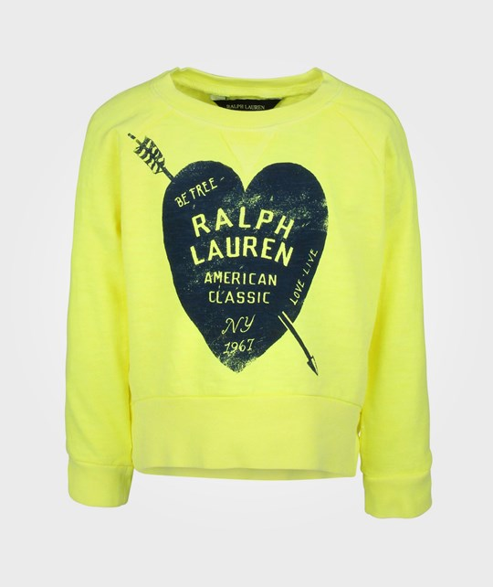 Ralph Lauren LS Graphic Sweatshirt Tee Safety Yellow Yellow