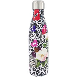 Hype Leopard Floral Stainless Steel Bottle White