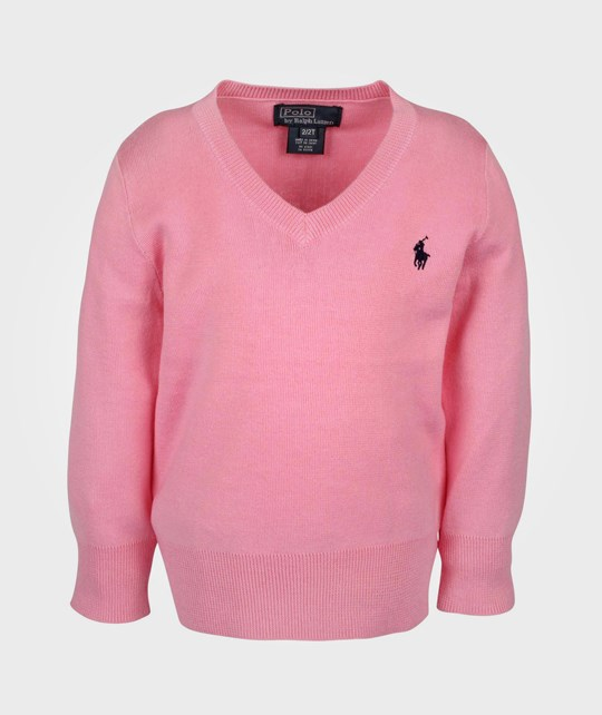 Ralph Lauren LS VN Sweater New Rose Pink
