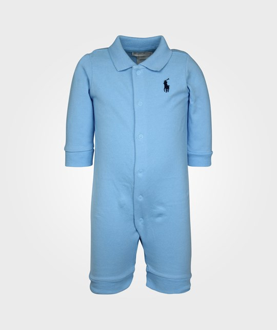 Ralph Lauren Solid Mesh Coverall Suffield Blue Blue