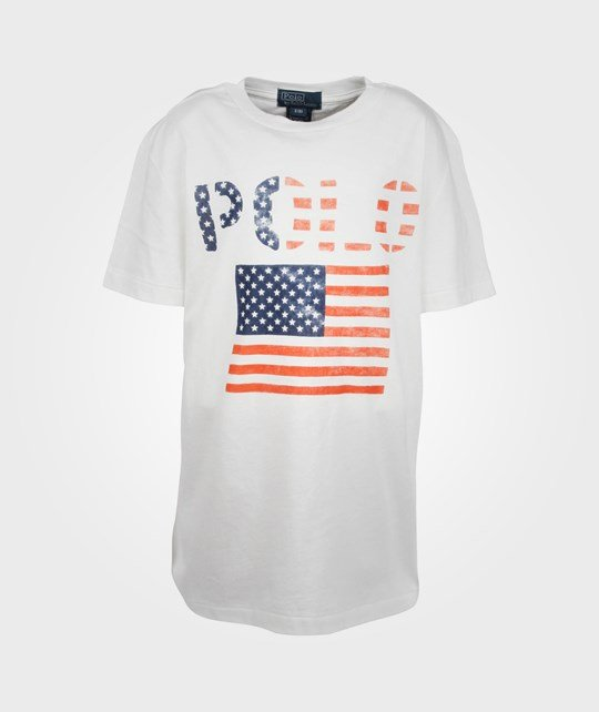 Ralph Lauren SS CN Graphic Tee Deckwash White White