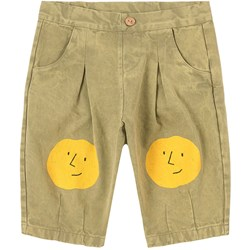Bobo Choses Faces Woven Pants Dried Herb