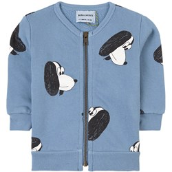 Bobo Choses Doggie Zip Sweater Forever Blue