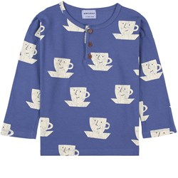 Bobo Choses Cup Of Tea All Over Buttoned T-Shirt Royal Blue