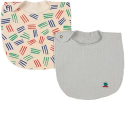 Bobo Choses 2-Pack Cup Of Tea And Scratch Colors Bibs Ballad Blue